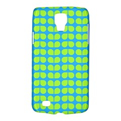 Blue Lime Leaf Pattern Galaxy S4 Active by creativemom
