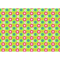 Cute Floral Pattern Birthday Cake 3d Greeting Card (7x5)  by creativemom