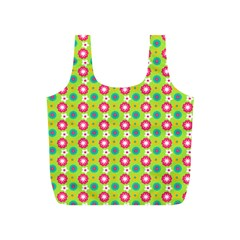 Cute Floral Pattern Full Print Recycle Bags (s)  by creativemom