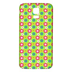 Cute Floral Pattern Samsung Galaxy S5 Back Case (White) by creativemom