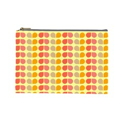 Colorful Leaf Pattern Cosmetic Bag (Large)  by creativemom