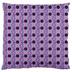 Cute Floral Pattern Large Flano Cushion Cases (two Sides)  by creativemom