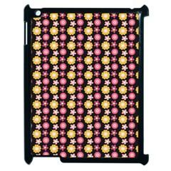 Cute Floral Pattern Apple Ipad 2 Case (black) by creativemom