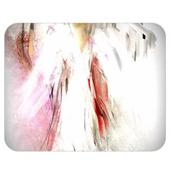 Abstract Angel In White Double Sided Flano Blanket (medium)  by theunrulyartist