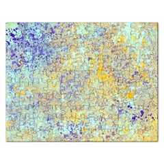 Abstract Earth Tones With Blue  Rectangular Jigsaw Puzzl by theunrulyartist