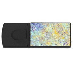 Abstract Earth Tones With Blue  Usb Flash Drive Rectangular (4 Gb)  by theunrulyartist