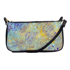 Abstract Earth Tones With Blue  Shoulder Clutch Bags by theunrulyartist