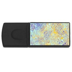Abstract Earth Tones With Blue  USB Flash Drive Rectangular (1 GB)  by theunrulyartist