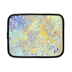 Abstract Earth Tones With Blue  Netbook Case (small)  by theunrulyartist