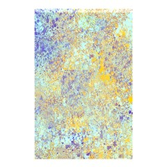 Abstract Earth Tones With Blue  Shower Curtain 48  X 72  (small)  by theunrulyartist