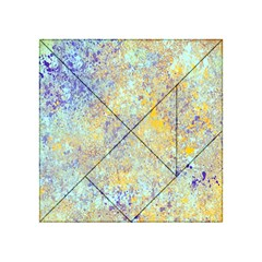 Abstract Earth Tones With Blue  Acrylic Tangram Puzzle (4  X 4 ) by theunrulyartist