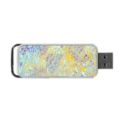 Abstract Earth Tones With Blue  Portable Usb Flash (two Sides) by theunrulyartist