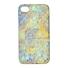 Abstract Earth Tones With Blue  Apple Iphone 4/4s Hardshell Case With Stand by theunrulyartist