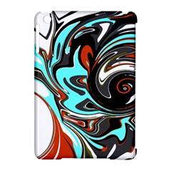 Abstract In Aqua, Orange, And Black Apple Ipad Mini Hardshell Case (compatible With Smart Cover) by theunrulyartist