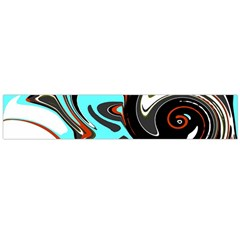 Abstract In Aqua, Orange, And Black Flano Scarf (large)  by theunrulyartist