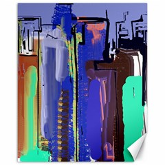 Abstract City Design Canvas 16  x 20   by theunrulyartist