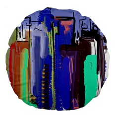 Abstract City Design Large 18  Premium Flano Round Cushions by theunrulyartist