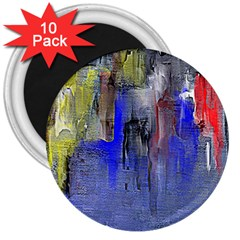 Hazy City Abstract Design 3  Magnets (10 pack)  by theunrulyartist