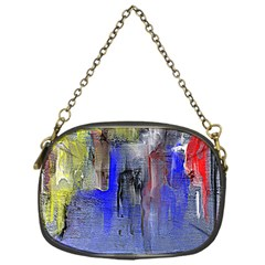 Hazy City Abstract Design Chain Purses (one Side)  by theunrulyartist