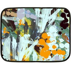 Abstract Country Garden Fleece Blanket (mini) by theunrulyartist