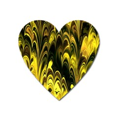 Fractal Marbled 15 Heart Magnet by ImpressiveMoments