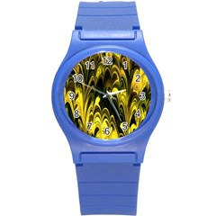 Fractal Marbled 15 Round Plastic Sport Watch (s) by ImpressiveMoments