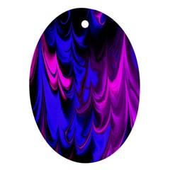 Fractal Marbled 13 Oval Ornament (Two Sides) by ImpressiveMoments