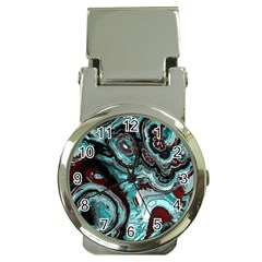 Fractal Marbled 05 Money Clip Watches by ImpressiveMoments