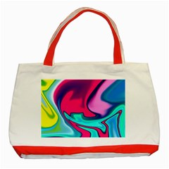 Fluid Art 22 Classic Tote Bag (red)  by ImpressiveMoments