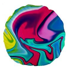 Fluid Art 22 Large 18  Premium Flano Round Cushions by ImpressiveMoments
