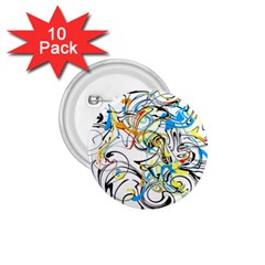 Abstract Fun Design 1 75  Buttons (10 Pack) by theunrulyartist