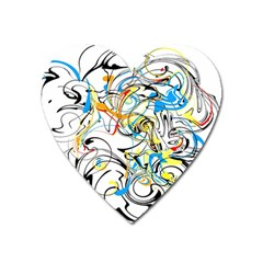 Abstract Fun Design Heart Magnet by theunrulyartist