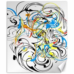 Abstract Fun Design Canvas 8  X 10  by theunrulyartist