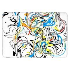 Abstract Fun Design Samsung Galaxy Tab 8.9  P7300 Flip Case by theunrulyartist