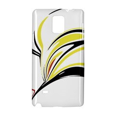 Abstract Flower Design Samsung Galaxy Note 4 Hardshell Case by theunrulyartist