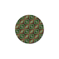 Rhombus Flowers Pattern Golf Ball Marker (10 Pack) by LalyLauraFLM