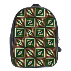 Rhombus Flowers Pattern School Bag (large) by LalyLauraFLM
