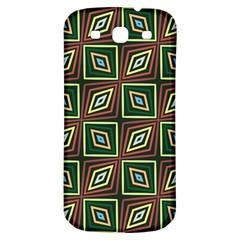 Rhombus Flowers Pattern Samsung Galaxy S3 S Iii Classic Hardshell Back Case by LalyLauraFLM
