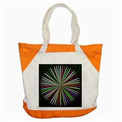 Colorful Rays Accent Tote Bag by LalyLauraFLM