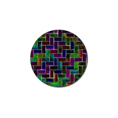 Colorful Rectangles Pattern Golf Ball Marker (10 Pack) by LalyLauraFLM