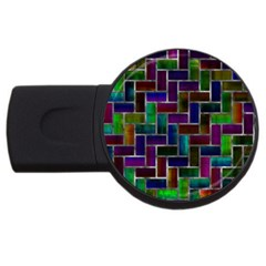 Colorful Rectangles Pattern Usb Flash Drive Round (4 Gb) by LalyLauraFLM