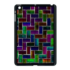 Colorful Rectangles Pattern Apple Ipad Mini Case (black) by LalyLauraFLM