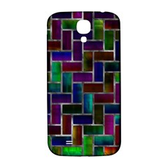 Colorful Rectangles Pattern Samsung Galaxy S4 I9500/i9505  Hardshell Back Case by LalyLauraFLM