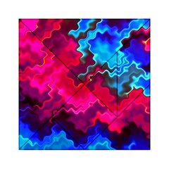 Psychedelic Storm Acrylic Tangram Puzzle (6  x 6 ) by KirstenStar