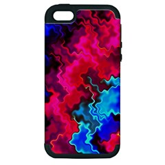 Psychedelic Storm Apple Iphone 5 Hardshell Case (pc+silicone) by KirstenStar