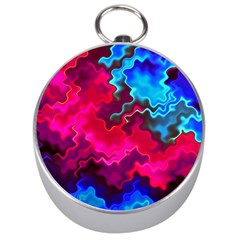 Psychedelic Storm Silver Compasses by KirstenStar