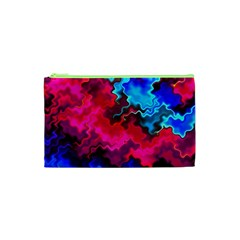 Psychedelic Storm Cosmetic Bag (xs) by KirstenStar