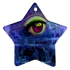Waterfall Tears Ornament (star)  by icarusismartdesigns