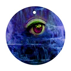 Waterfall Tears Round Ornament (two Sides)  by icarusismartdesigns