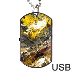 Surreal Dog Tag Usb Flash (one Side) by timelessartoncanvas